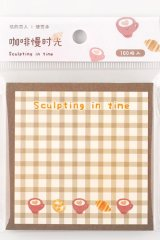 Kawaii Paper Planner Sticky Notes Memo - Sweet Gingham - sculpting in time