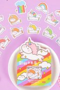 Kawaii Planner Bujo Journal Seal Sticker Sack - creamy - rainbow white horse