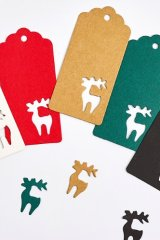 Kraft paper custom tags gift tags product tags Handmade tags DIY tags - Christmas Reindeer