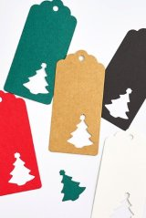 Kraft paper custom tags gift tags product tags Handmade tags DIY tags - Christmas Tree