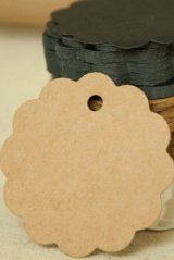 Kraft paper custom tags gift tags product tags Handmade tags DIY tags - Scallop