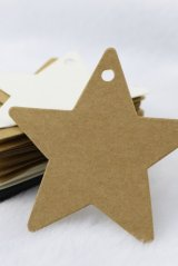Kraft paper custom tags gift tags product tags Handmade tags DIY tags - Star