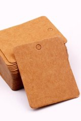 Kraft paper custom tags gift tags product tags Handmade tags DIY tags - Square