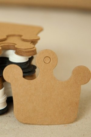 Photo1: Kraft paper custom tags gift tags product tags Handmade tags DIY tags - Crown