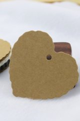 Kraft paper custom tags gift tags product tags Handmade tags DIY tags - Scallop Heart