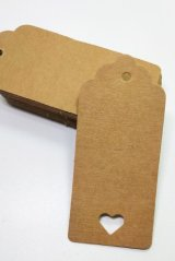 Kraft paper custom tags gift tags product tags Handmade tags DIY tags - Hollow Heart