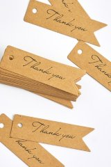 Kraft paper custom tags gift tags product tags Handmade tags DIY tags - Tail Thank You
