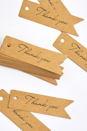 Photo1: Kraft paper custom tags gift tags product tags Handmade tags DIY tags - Tail Thank You