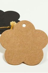 Kraft paper custom tags gift tags product tags Handmade tags DIY tags - Flower