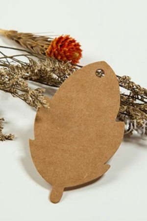 Photo1: Kraft paper custom tags gift tags product tags Handmade tags DIY tags - Leaf