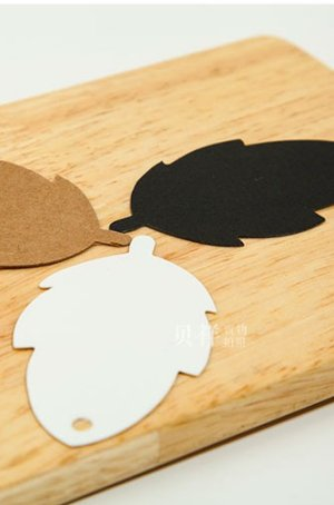 Photo2: Kraft paper custom tags gift tags product tags Handmade tags DIY tags - Leaf