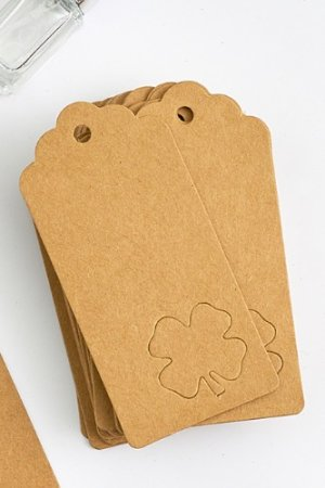 Photo2: Kraft paper custom tags gift tags product tags Handmade tags DIY tags - Clover