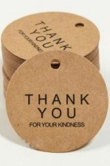 Kraft paper custom tags gift tags product tags Handmade tags DIY tags - Thank you