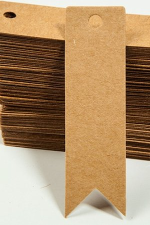 Photo2: Kraft paper custom tags gift tags product tags Handmade tags DIY tags - Tail