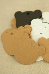 Kraft paper custom tags gift tags product tags Handmade tags DIY tags - Bear