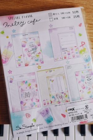 Photo2: Kawaii Japanese Trend Volume Style Letter Set - Crux - MELTY CAFE