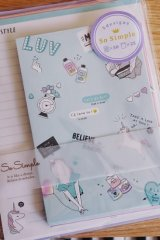 Kawaii Japanese Trend Volume Style Letter Set - Crux - Mint Style