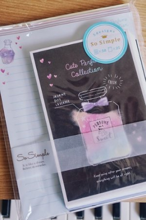 Photo1: Kawaii Japanese Trend Volume Style Letter Set - Crux - Perfume Collection