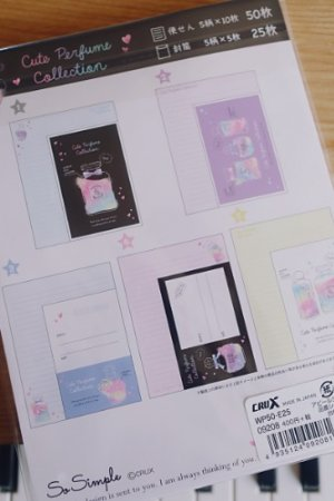 Photo2: Kawaii Japanese Trend Volume Style Letter Set - Crux - Perfume Collection