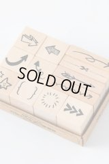 Wooden Rubber Stamp - All things - arrow mark