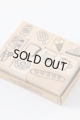 Wooden Rubber Stamp - All things - sweet gourmet