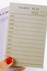 Japanese Message Scheduler Notes Memo - Memorial Life - Yearly Plan