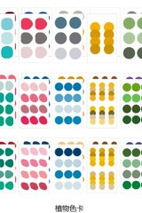 Kawaii Planner Bujo Decorative Stickers Set - Round Earth - Plant Color