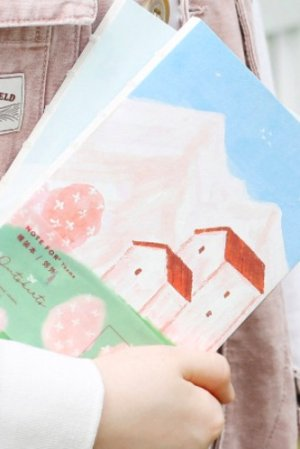 Photo1: Kawaii Planner Bujo Drawing Note Book -  Distant