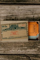 Vintage Style Planner Paper Sticker Box - Old Label Tags - ticket