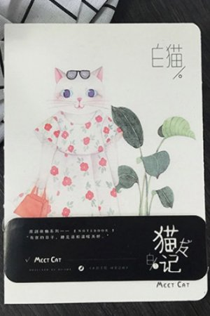 Photo1: new Kawaii Planner Drawing Note Book -  Cat Friend