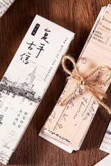 Kawaii Paper Bookmarks - Vintage Letters
