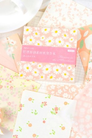 Photo1: Romantic Flower DIY Supplies Vintage Style Planner Diary Paper Materials - Blossom Flower