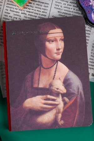 Photo1: Kawaii Planner Journal Scheduler Note Book - Lady with an Ermine
