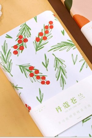 Photo1: Kawaii Cute Hard Cover Planner Drawing Book - Red Berry