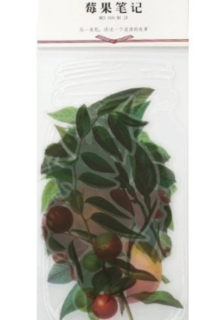 Photo1: SALE - DIY Material Planner Label Sticker Sack Flake - Plant Institute - Berry Notes