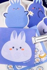 Kawaii Office Supplies Memo Notes - lovely animal - flower and rabbit
