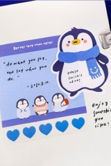 Kawaii Office Supplies Memo Notes - lovely animal - penguin