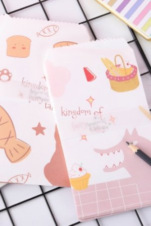 Photo1: Kawaii Slim Envelope Set - Fairytale Story Kingdom (5 pieces)