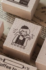 Lovely Wooden Rubber Stamp - Coffee - It's ok