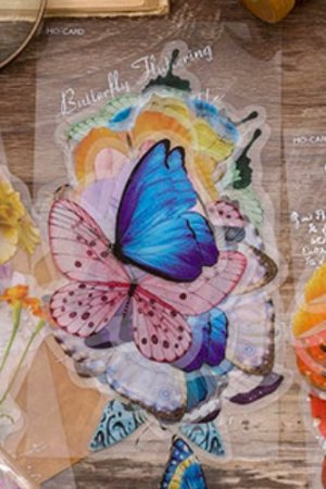 Photo1: Planner Journal Sticker Sack Flake - Amazing Creatures - Butterfly