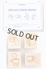 Wooden Rubber Stamp - Slow Life - Relax Mood