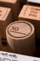 Lovely Wooden Rubber Stamp - Old Time - No.