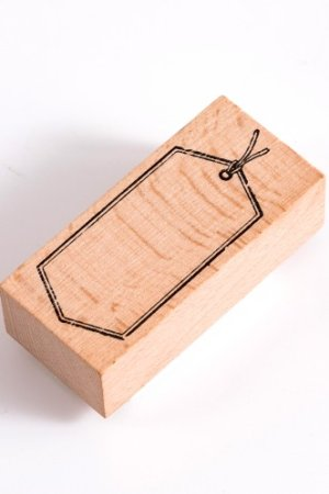 Photo1: vintage style Stationery Planner Wooden Rubber Stamp - tag - Diamond
