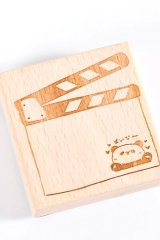 Kawaii Stationery Planner Wooden Rubber Stamp - zoo - action record