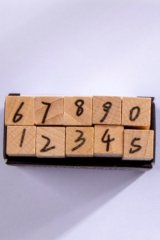 Wooden Rubber Stamp - Number - date