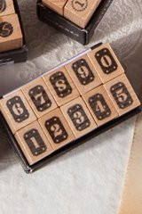 Wooden Rubber Stamp - Number - plate