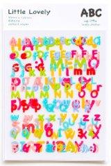 Kawaii Decor Sticker Set - little lovely - alphabet letters