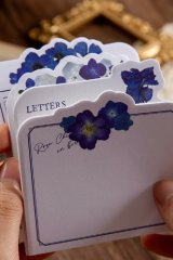Stationery Office Supplies Die cut Notes Memo - Flower Blossom - Morning wind