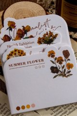 Stationery Office Supplies Die cut Notes Memo - Flower Blossom - Sunset Sky