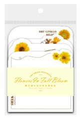 Stationery Office Supplies Die cut Notes Memo - Flower Blossom - Spring